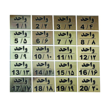 تابلو نشانگر طرح شماره واحد مدل al140 مجموعه 20 عددی