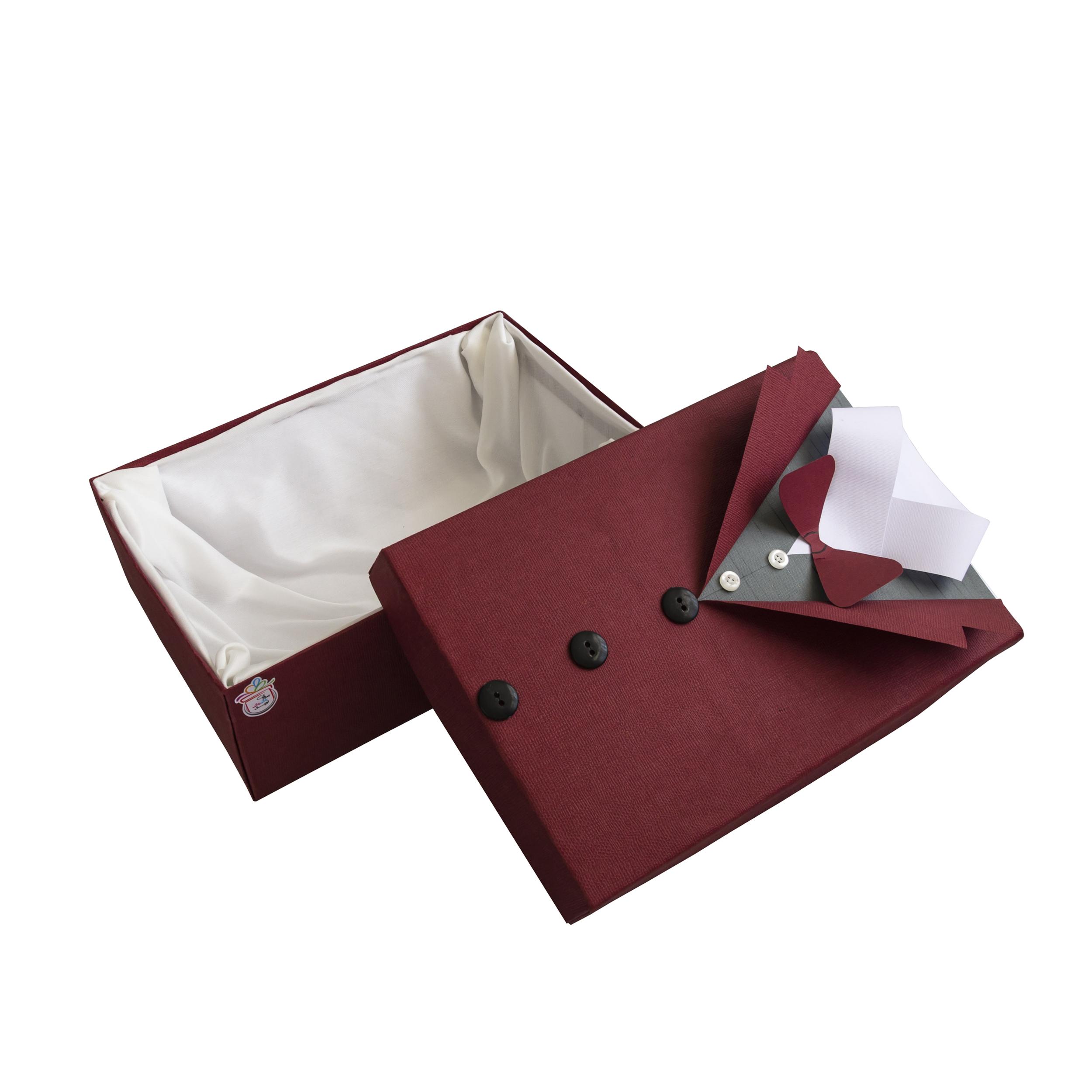 خرید                      جعبه هدیه توپک طرح پیراهن مردانه کد Z-001