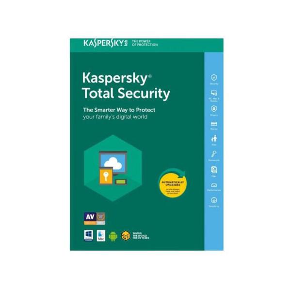 نرم افزار آنتی ویروس کسپرسکی لب نسخه توتال سکیوریتی 2020 یک کاربره 1 ساله