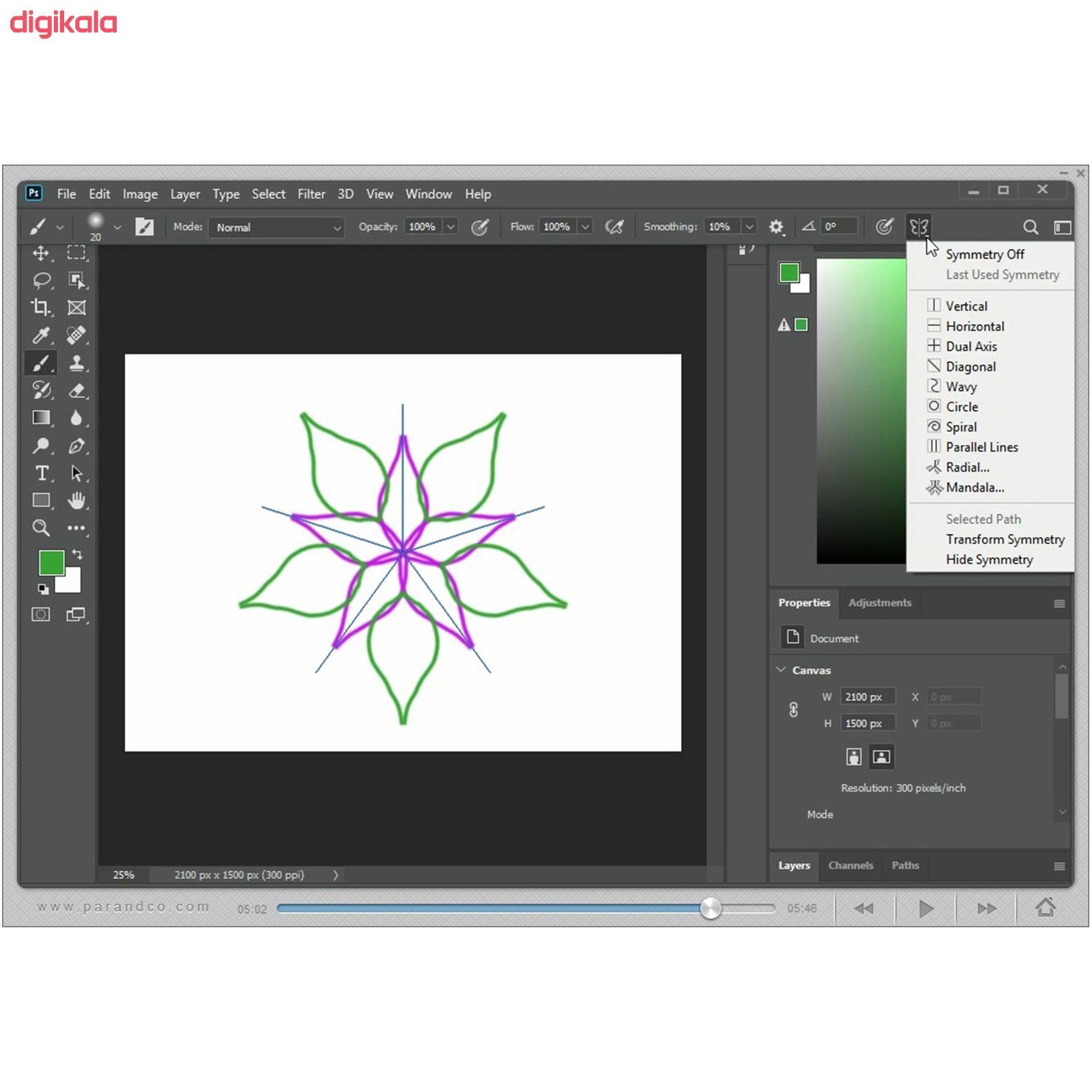 نرم افزار آموزش Photoshop 2020 شرکت پرند main 1 6