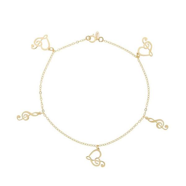 پابند طلا 18 عیار زنانه الن نار مدل eln552