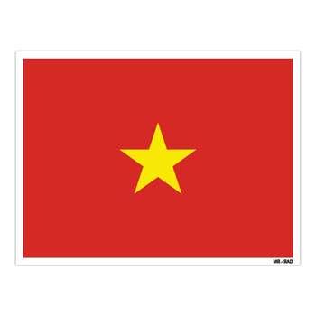 استیکر مستر راد طرح پرچم ویتنام مدل HSE 241