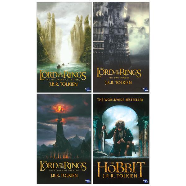 کتاب Lord of the Rings اثر J. R. R. Tolkien  انتشارات زبان مهر 4 جلدی