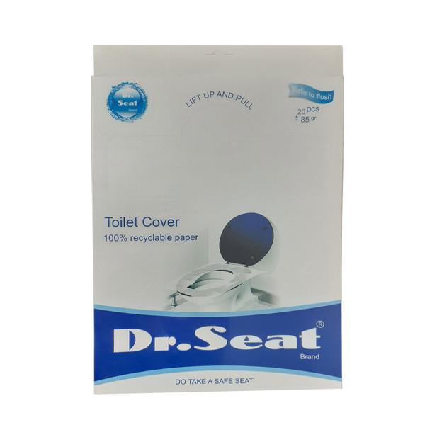 روکش یکبار مصرف توالت فرنگی دکتر سیت مدل170_Travel Pack بسته 20 عددی
