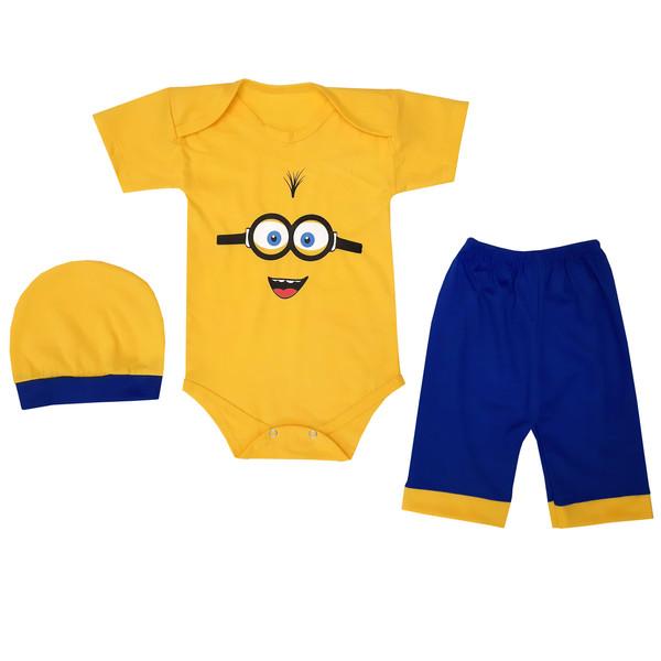 ست 3 تکه لباس نوزادی پسرانه کد YELEYN11