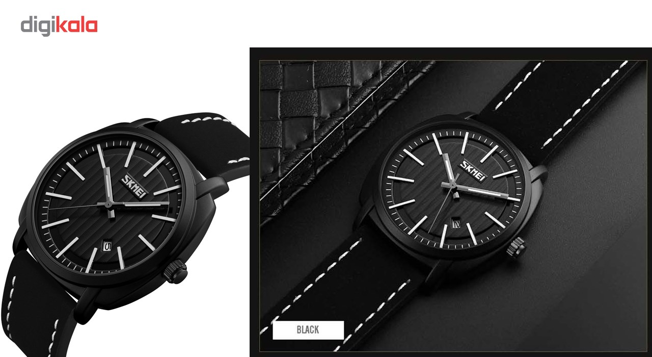 خرید ساعت مچی عقربه ای مردانه اسکمی مدل 9169 کد 02