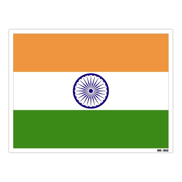استیکر مستر راد طرح پرچم هند مدل HSE 116