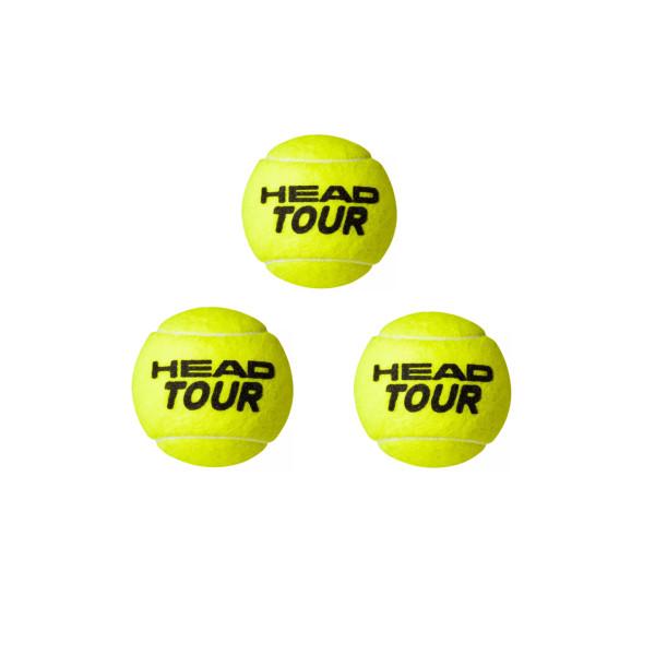 توپ تنیس هد مدل Tour بسته ۳ عددی