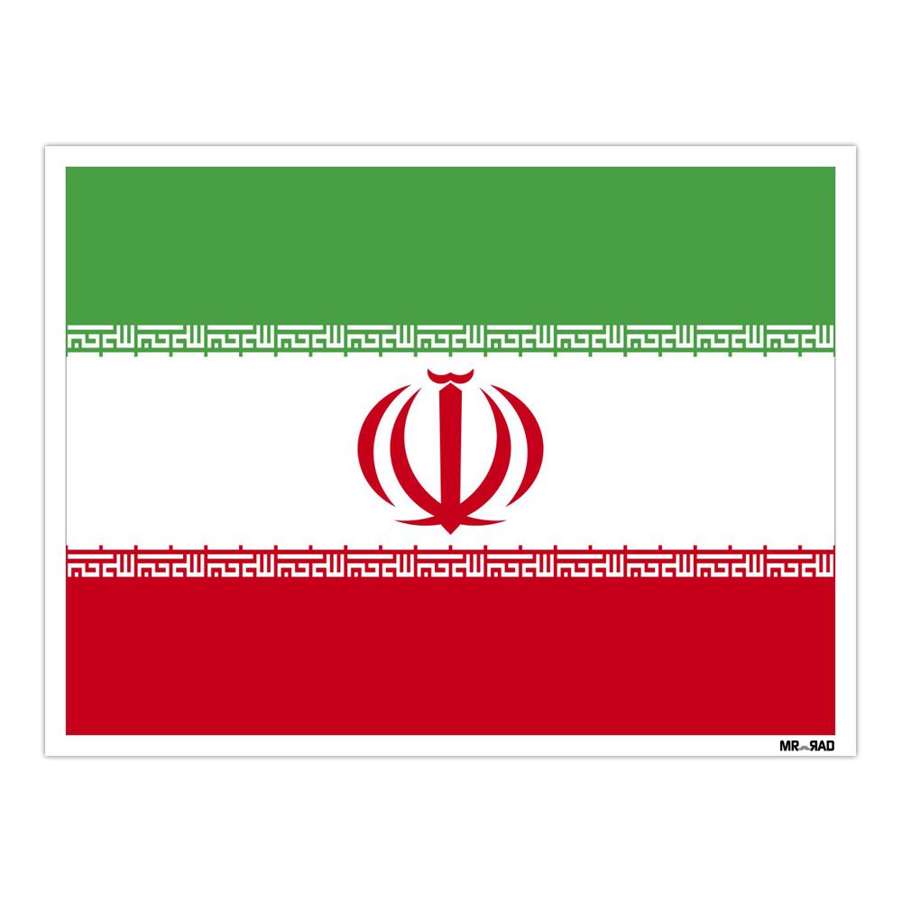 استیکر فراگراف FG طرح پرچم ایران مدل HSE 119