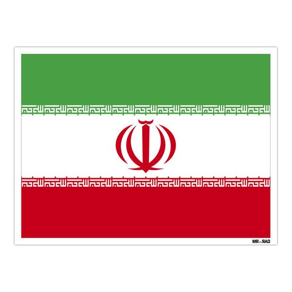 استیکر مستر راد طرح پرچم ایران مدل HSE 119