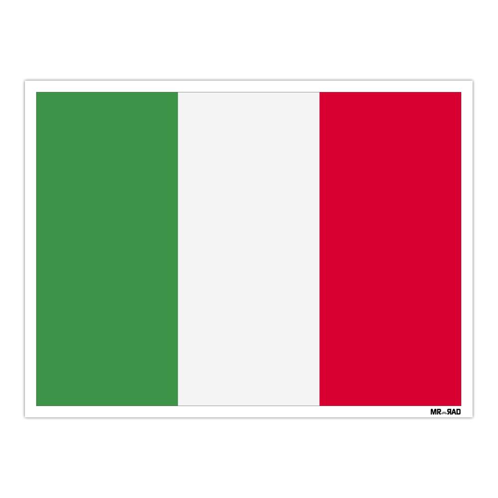 استیکر فراگراف FG طرح پرچم ایتالیا مدل HSE 124