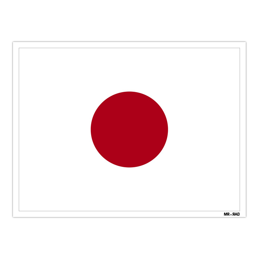 استیکر فراگراف FG طرح پرچم ژاپن مدل HSE 127