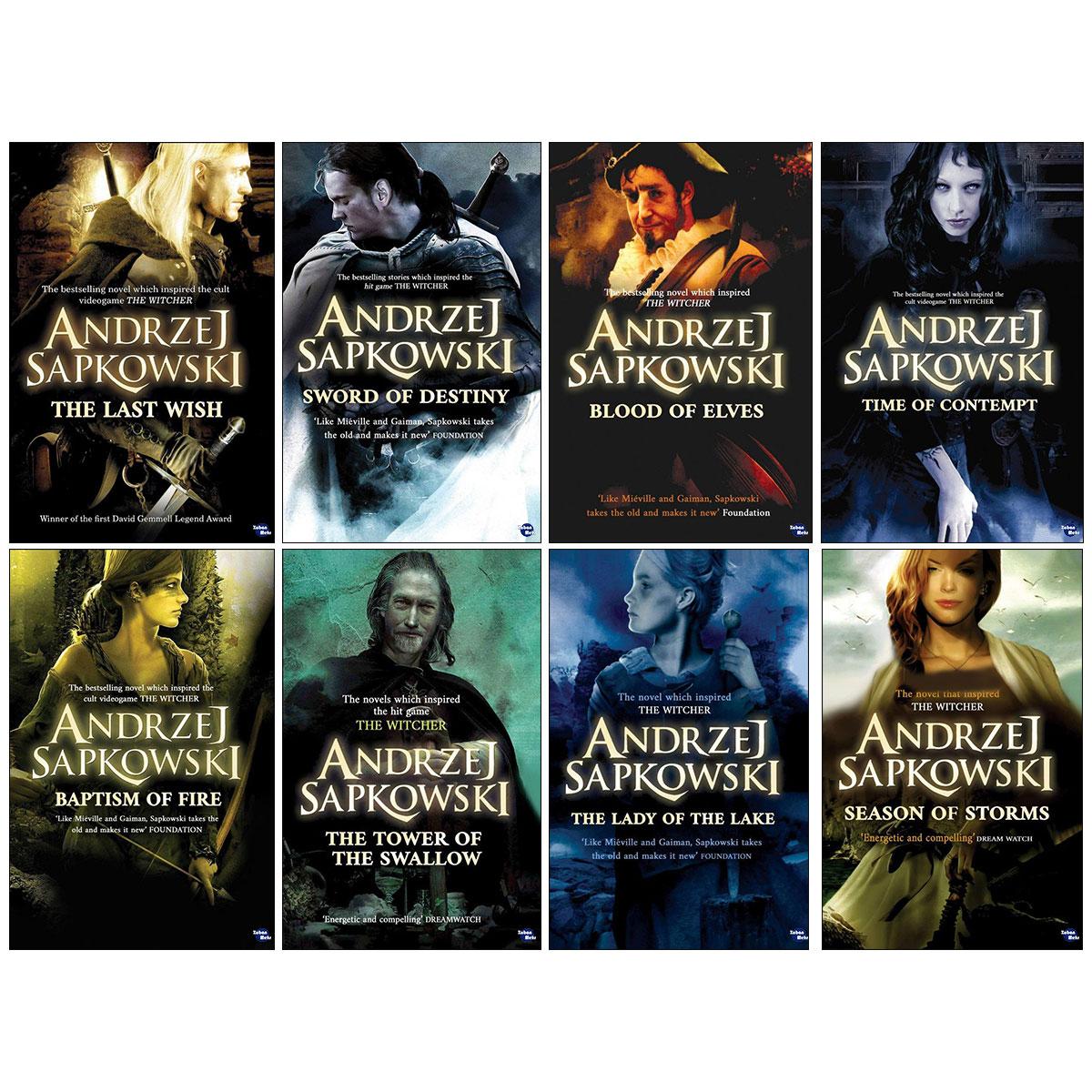 کتاب Witcher اثر Andrzej Sapkowski انتشارات زبان مهر 8 جلدی