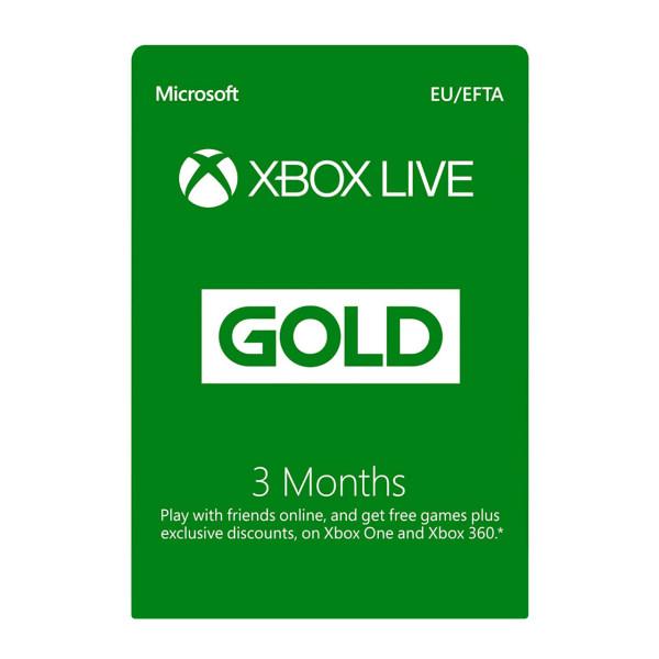 گیفت کارت ۳ ماهه ایکس باکس گلد مدل Gold Live