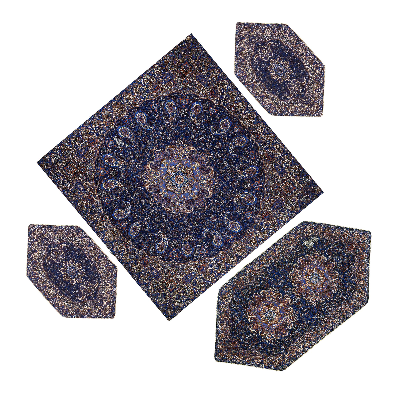 4 PCS Nastaran cashmere tablecloth, code SRMH4-4