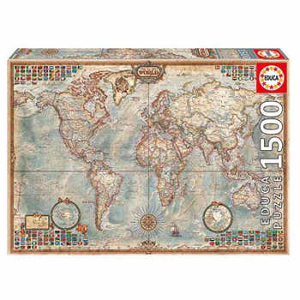 پازل 1500 تکه ادوکا مدل POLITICAL WORLD MAP