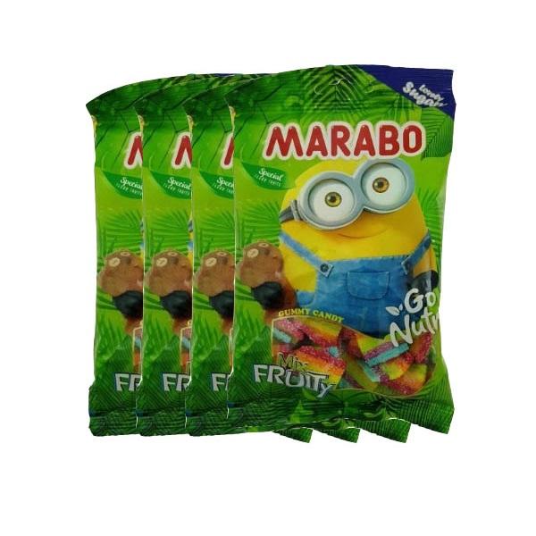 پاستیل شکری با طعم میوه مخلوط مارابو - 100 گرم بسته 4 عددی