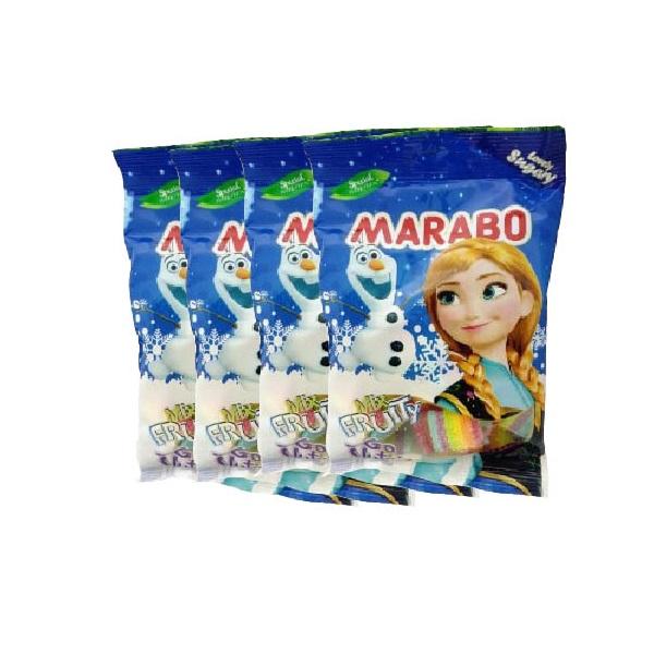 پاستیل شکری میوه مخلوط مارابو - 100 گرم بسته 4 عددی