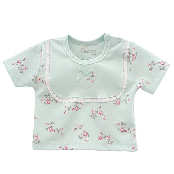تی شرت نوزاد آستین کوتاه پولونیکس طرح فلوریا کد 17