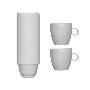 فنجان یکبار مصرف آملون مدل AML-FEN-2+24 بسته 24 عددی به همراه 2 پایه فنجان