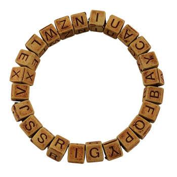 دستبند گالری عزیزی طرح حروف مدل gz98822