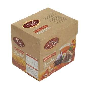 دمنوش مخلوط گیاهی زعفران و مریم گلی سحر خیز  - بسته 12 عددی