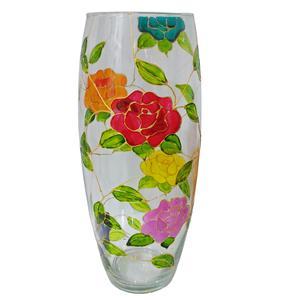 گلدان شیشه ای طرح گل کد 06