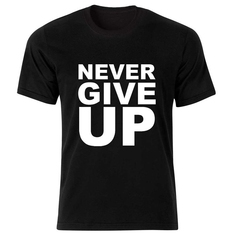 تیشرت آستین کوتاه بچگانه طرح never give up کد BT091
