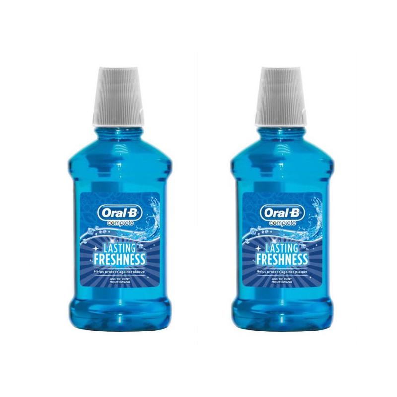 دهان شویه اورال-بی مدل Lasting Freshness حجم 250 میلی لیتر مجموعه 2 عددی