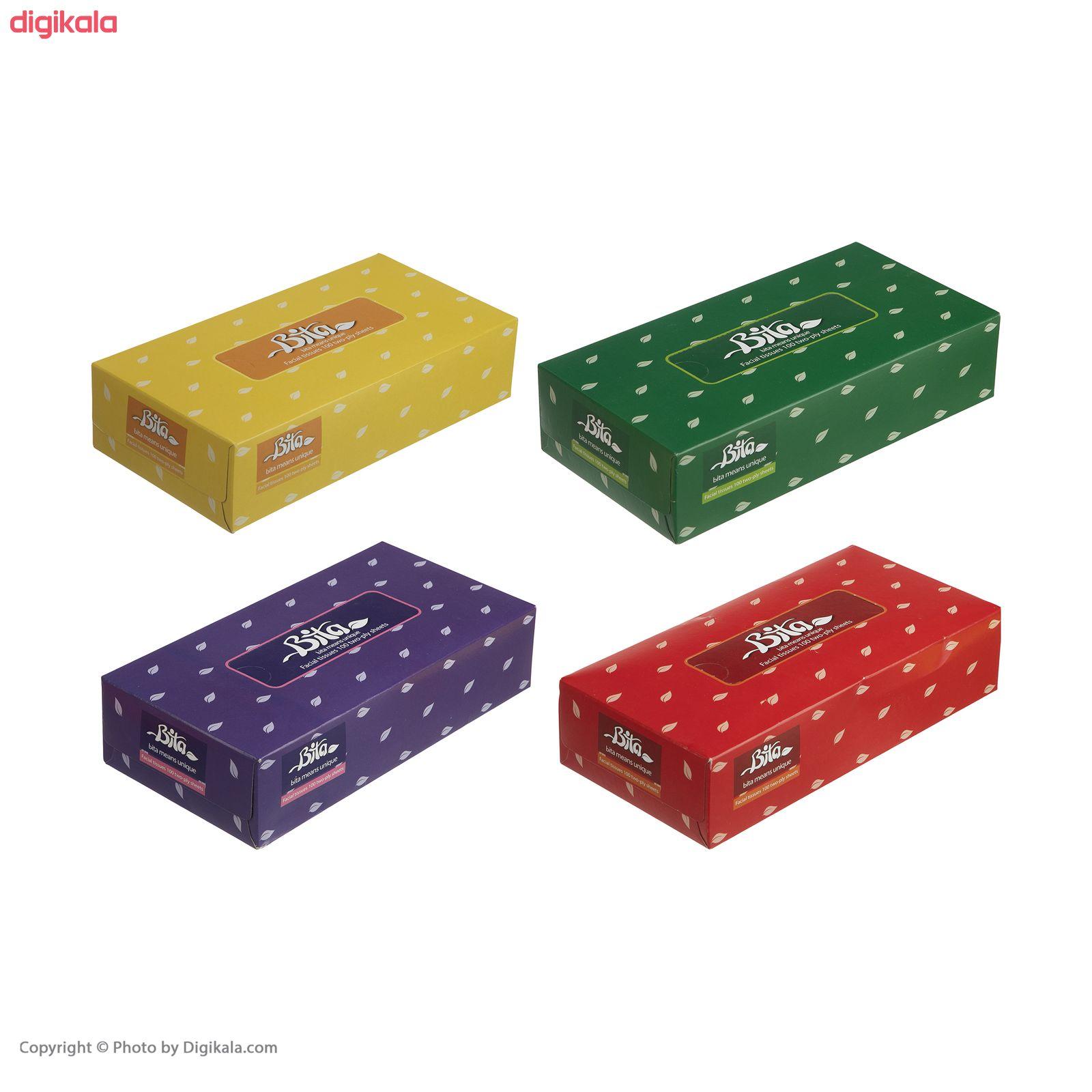 دستمال کاغذی 100 برگ بی تا بسته 4 عددی main 1 9