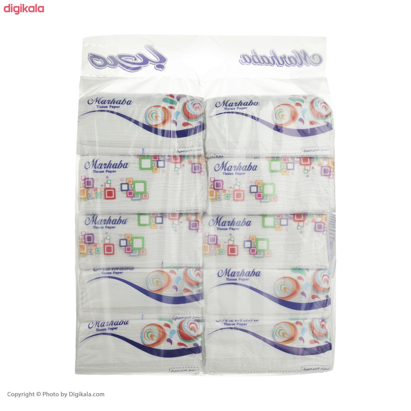 دستمال کاغذی 100 برگ مرحبا مدل Flower بسته 10 عددی main 1 5
