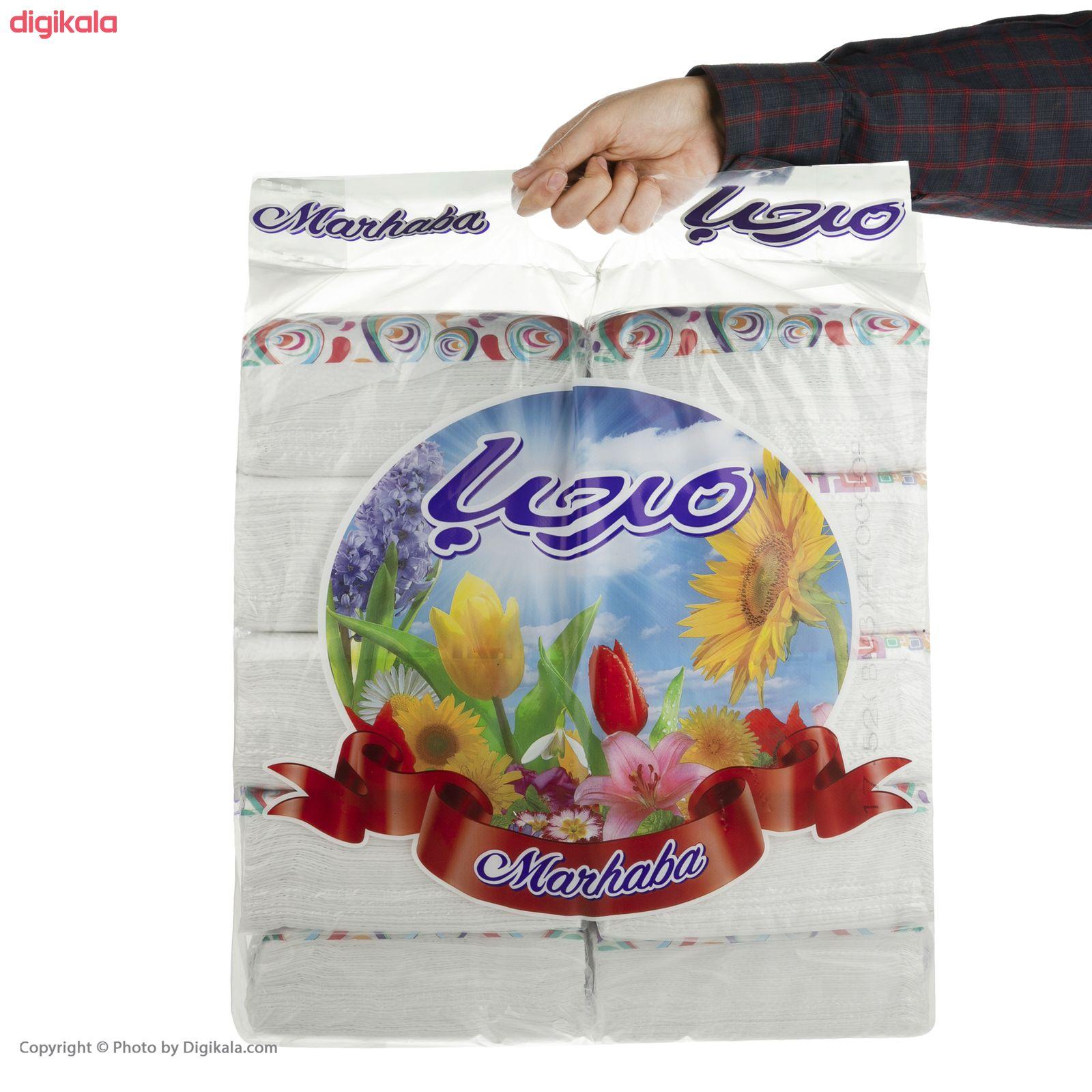 دستمال کاغذی 100 برگ مرحبا مدل Flower بسته 10 عددی main 1 6
