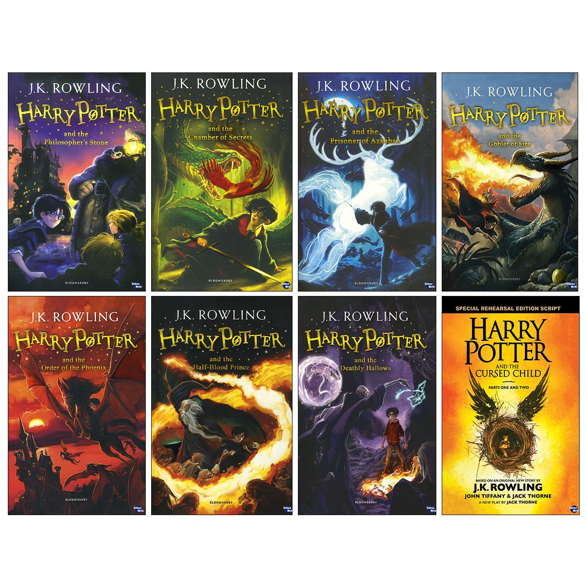 کتاب harry potter اثر J.K. Rowling انتشارات زبان مهر 8 جلدی