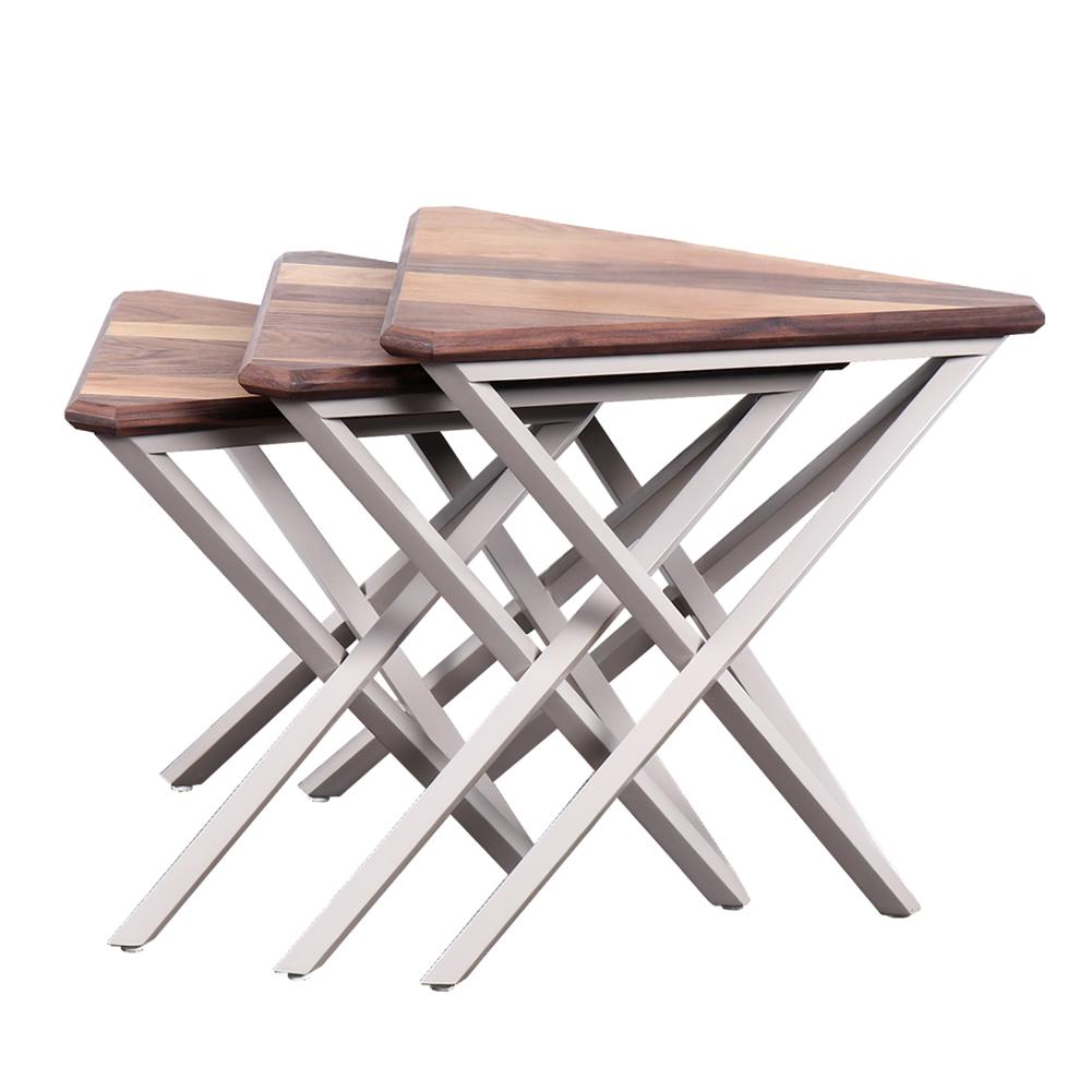 میز عسلی فارست مبل مدل تاو مجموعه 3 عددی