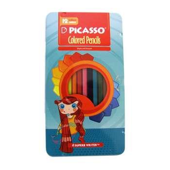 مداد رنگی 12 رنگ فلزی پیکاسو مدل superb writer