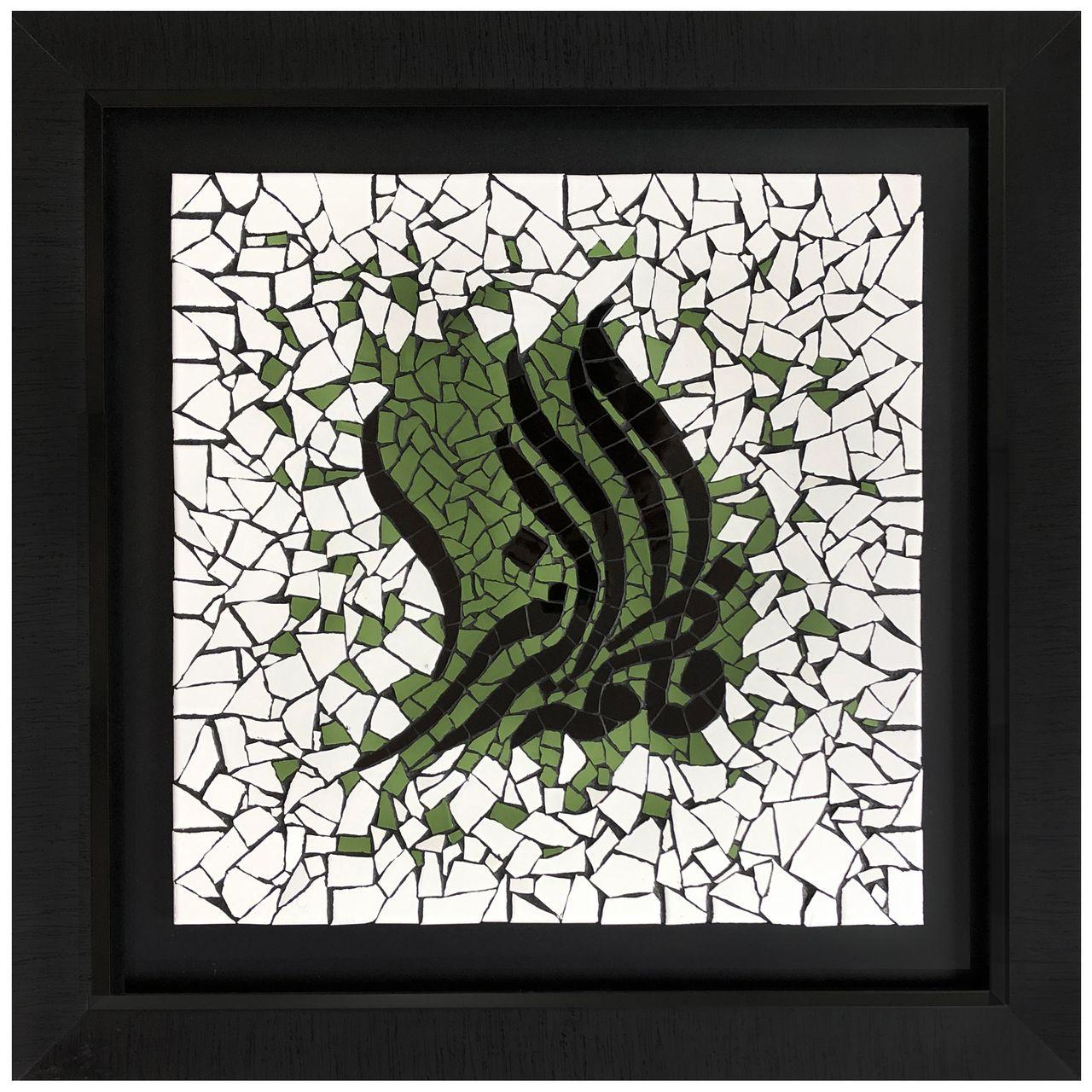 تابلو کاشی کاری طرح فاطمه الزهرا کد SM 01