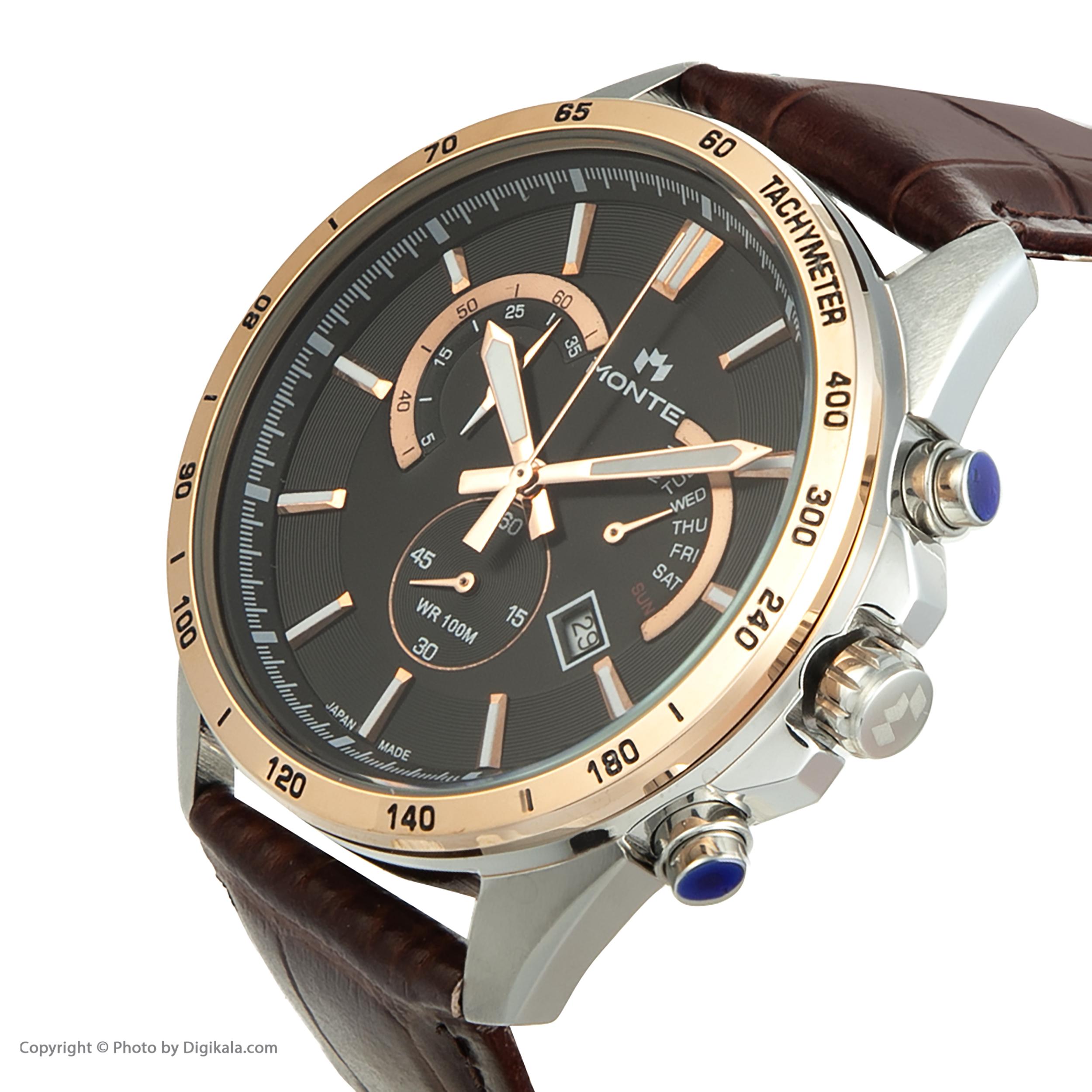 کد تخفیف                                      ساعت مچی عقربه ای مردانه مونته مدل M1754324-BRB