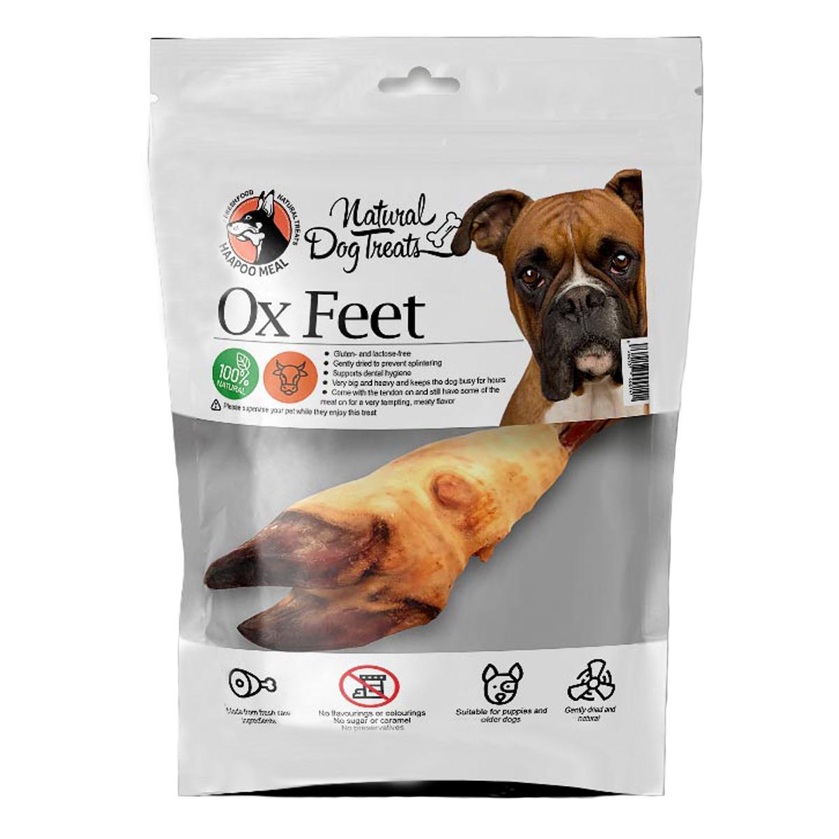 غذای تشویقی سگ هاپومیل مدل Ox Feet کد 66 وزن 250 گرم