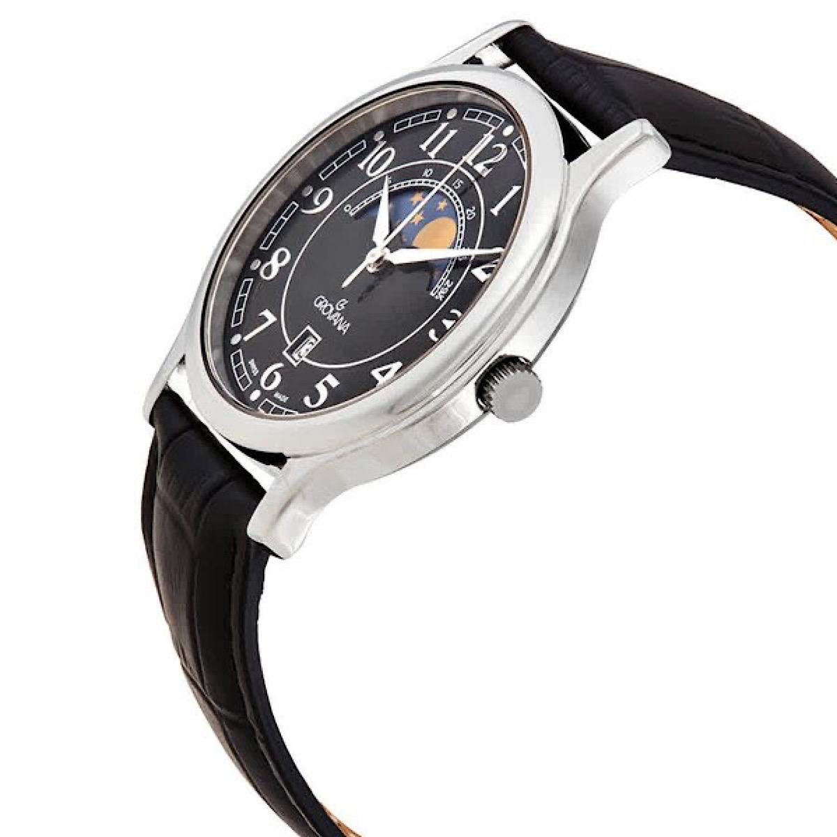 خرید                                      ساعت مچی عقربه ای مردانه گرووانا مدل Moonphase 1026-1537