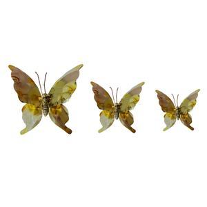 پروانه برنجی کد fly01 مجموعه سه عددی