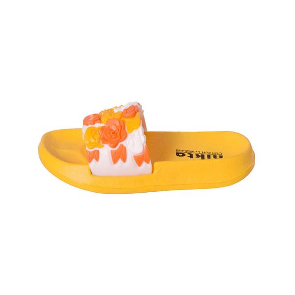 دمپایی دخترانه نیکتا کد L1- B497 رنگ زرد