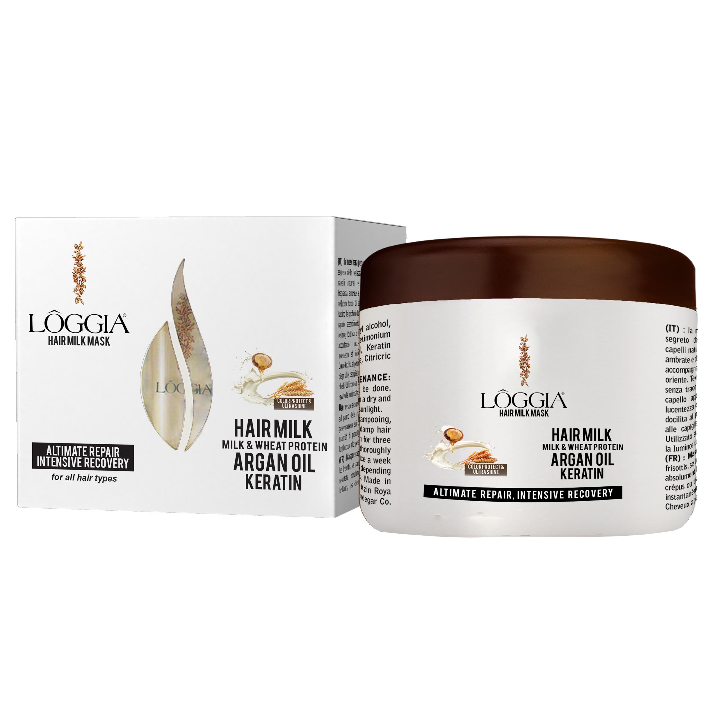 خرید                     ماسک شیر مو لوجیا کد AM4 حجم 500 میلی لیتر