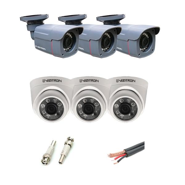 دوربین مداربسته آنالوگ ویزیترون مدل DK28_340ZF20_368XG20 مجموعه 6 عددی