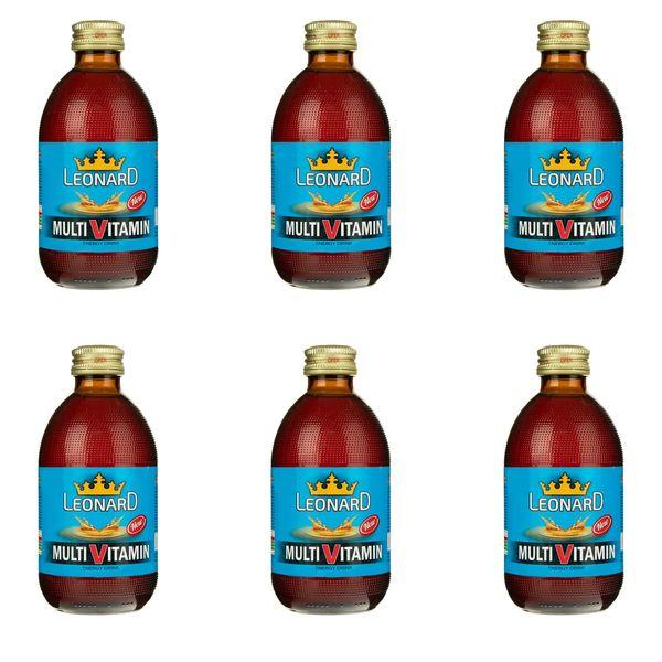 نوشابه انرژی زا مولتی ویتامین لئونارد - 240 گرم بسته 6 عددی