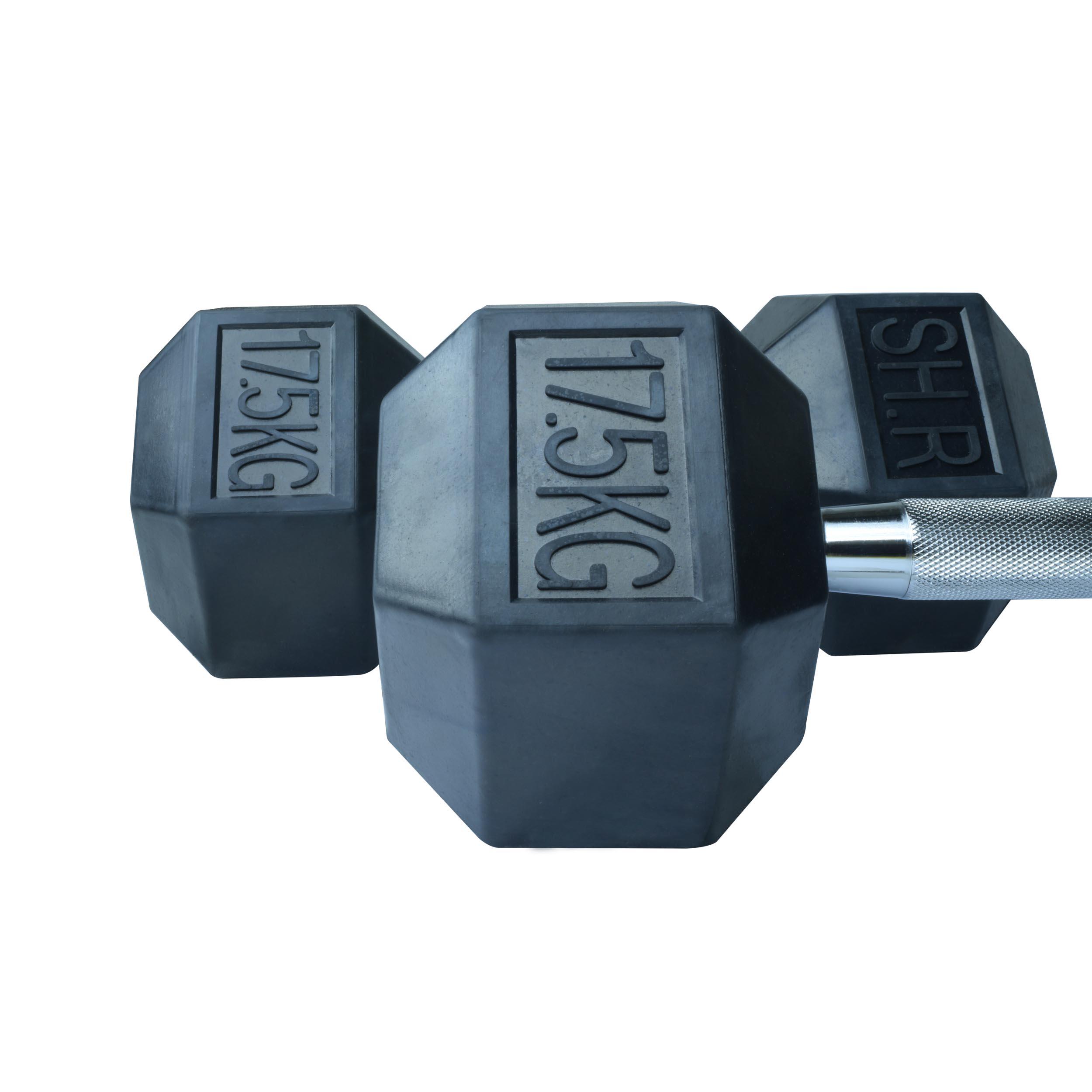 دمبل اس اچ ار کد B6 وزن 17.5 کیلوگرم بسته 2 عددی