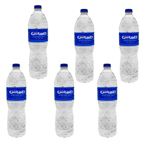 آب معدنی داماش - 1500 میلی لیتر بسته 6 عددی