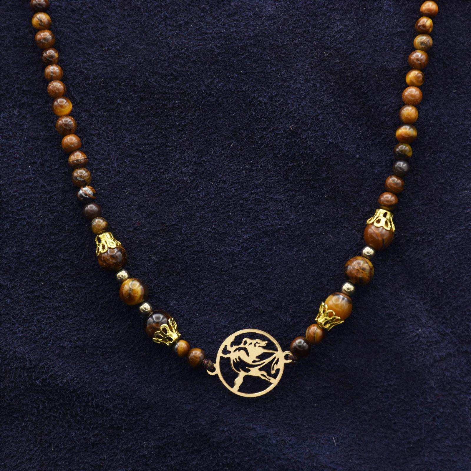 گردنبند طلا 18 عیار زنانه آمانژ کد 895D3385 -  - 1