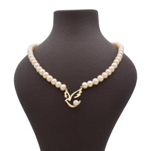 گردنبند طلا 18 عیار زنانه آمانژ طرح پرستو کد 896D3386