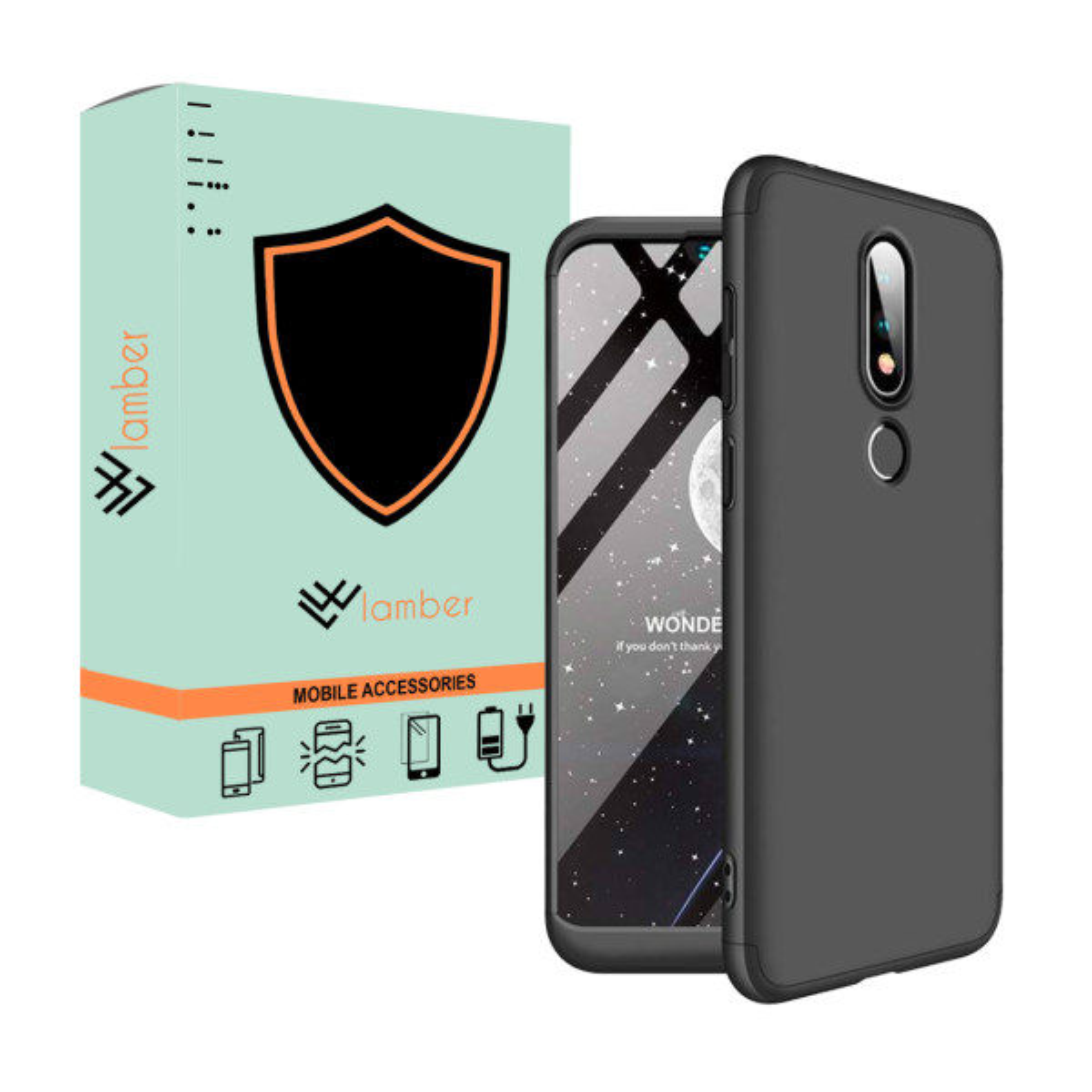 کاور 360 درجه لمبر مدل LAMGK-1 مناسب برای گوشی موبایل نوکیا X6/6.1 Plus