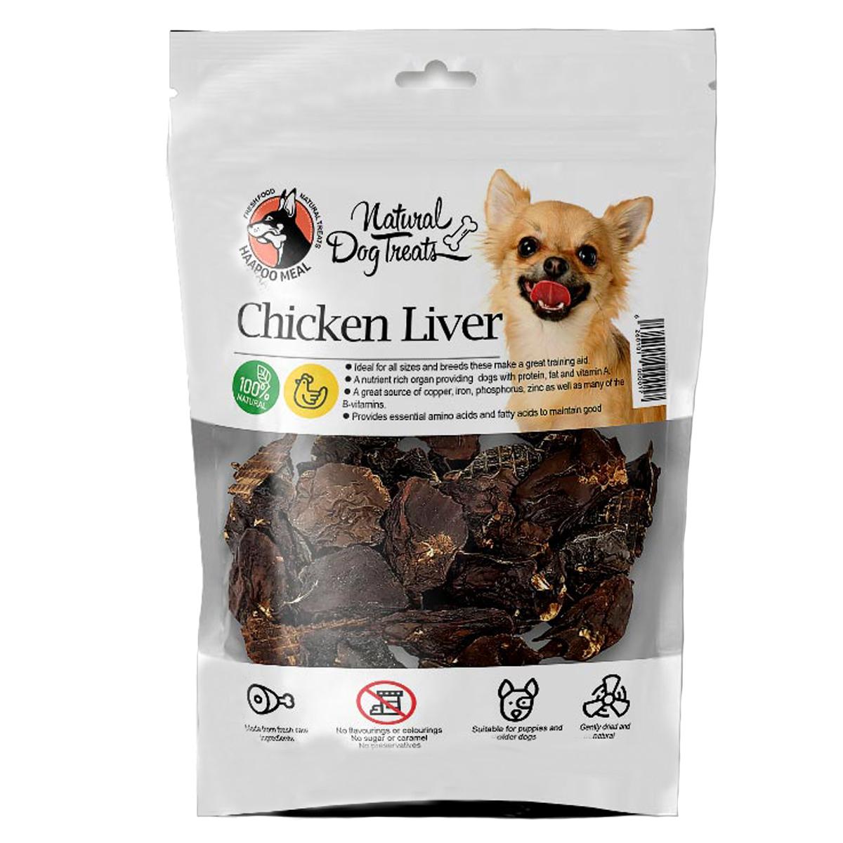 تشویقی سگ هاپومیل مدل Chicken Liver وزن 70 گرم